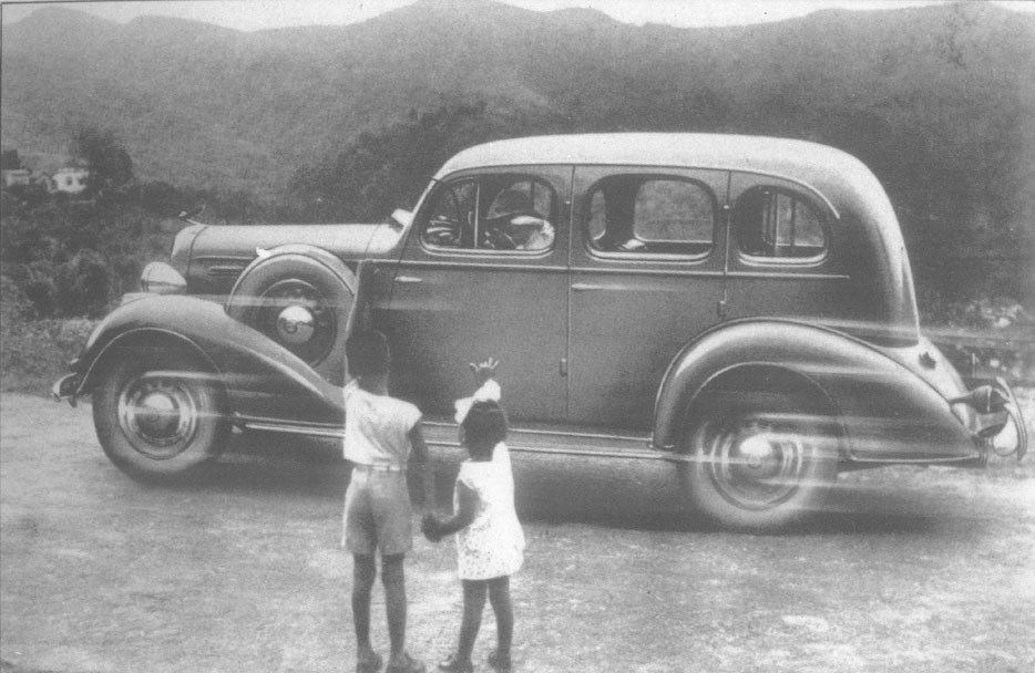 Reaching toward the West From a 1935 ad for the Chevy Master Deluxe in Trinidad