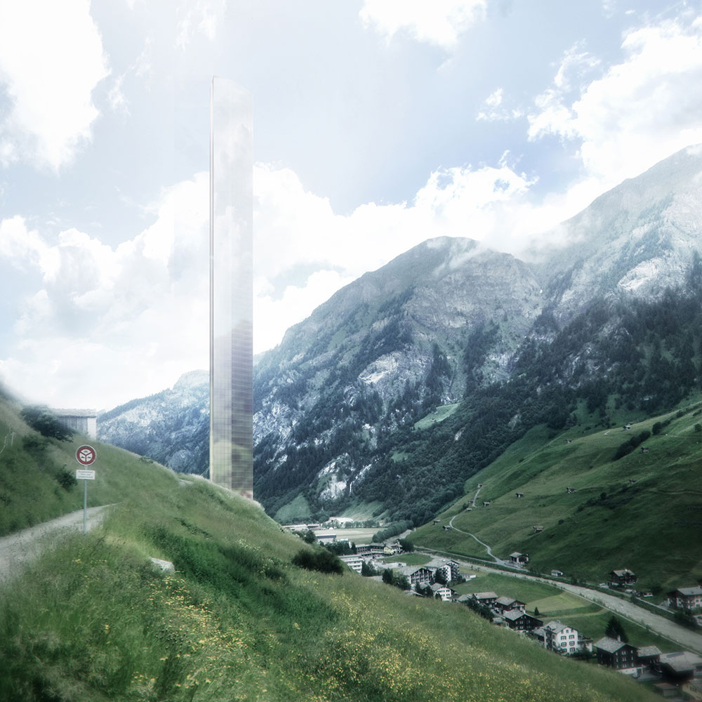 THE TOWER In a spa town in the Swiss Alps, you'll find snow-capped mountains, chocolate, goats... and soon, the tallest hotel in the world. BY BERND BRUNNER