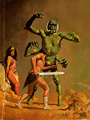 Cover art for a 1973 edition of A Princess of Mars by Gino D'Achille