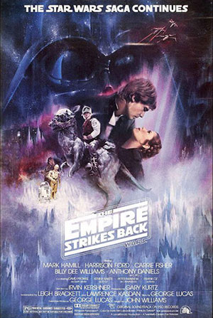 Poster from the original theatrical release of Empire Strikes Back, 1980.