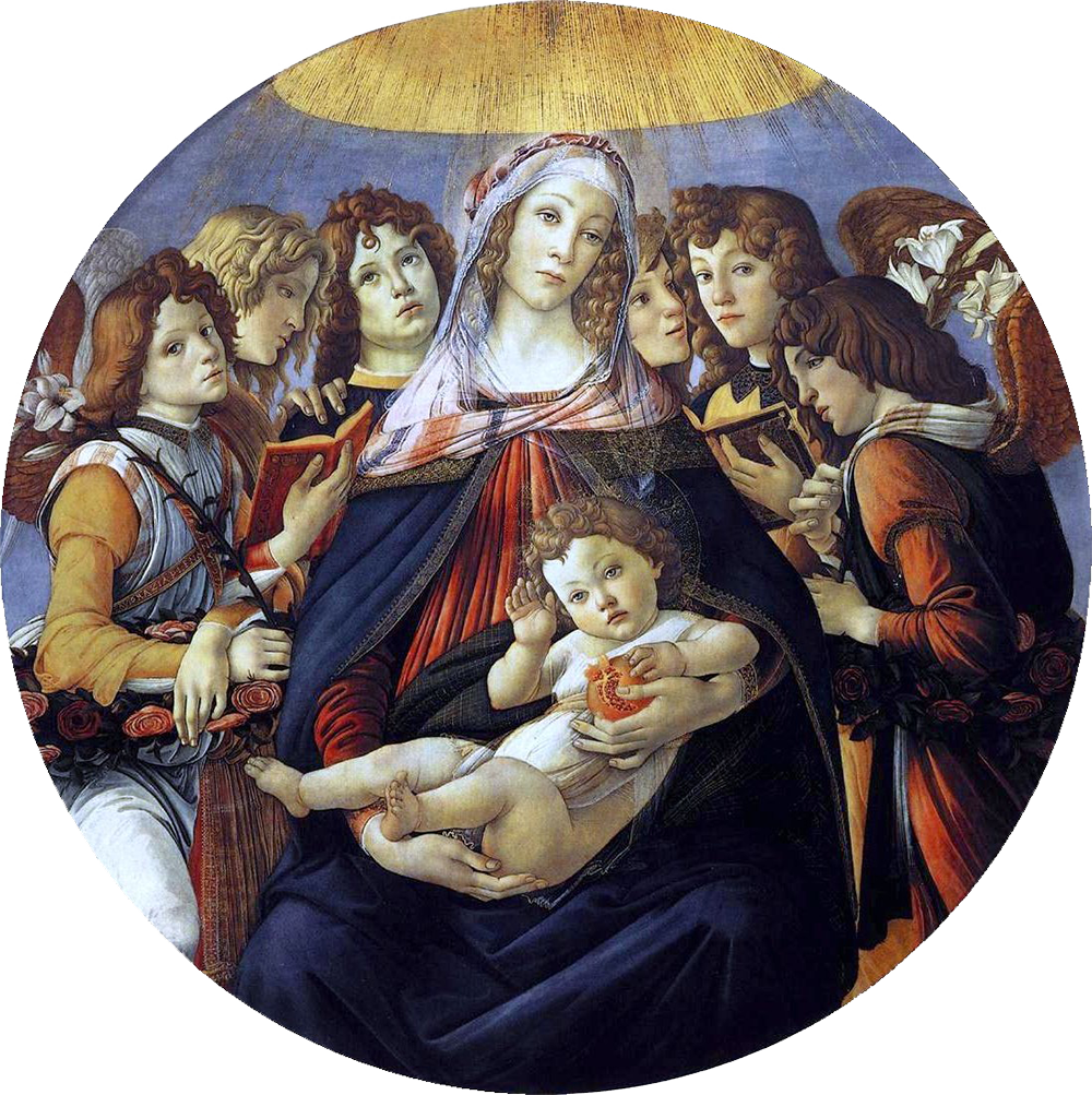 Madonna of the Pomegranate (1487) by Sandro Botticelli