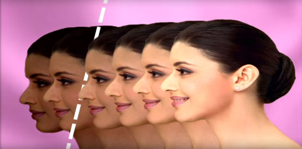 Screenshot from a Fair and Lovely ad