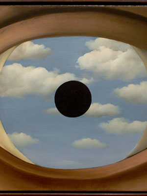 The False Mirror. Rene Magritte (1928).