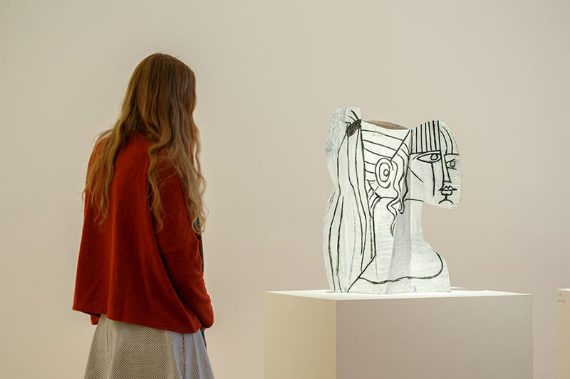 Installation view of Picasso Sculpture. The Museum of Modern Art, New York, September 14, 2015–February 7, 2016. © 2015 The Museum of Modern Art. Photo: Pablo Enriquez