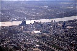 Image of Detroit skyline by Doug Caribb