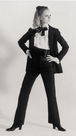 The men's tuxedo jacket Laurent stole for the female wardrobe.