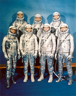 Project Mercury, the first U.S. human spaceflight team.
