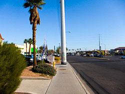 A Las Vegas sidewalk