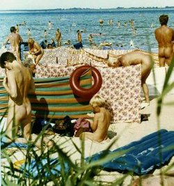 On the Hohenwieschendorf nude beach, Germany, 1984