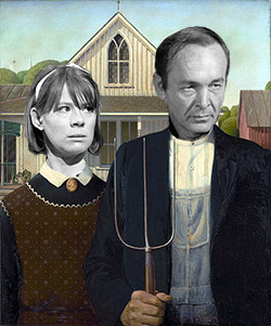 Mayella and Bob Ewell (with apologies to Grant Wood)