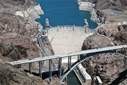 The Hoover Dam and its Bypass.