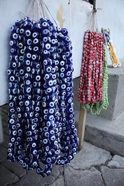 Evil eye beads in various colors