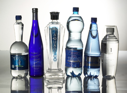 High-end bottles that look like they hold wine, vodka, immortality.