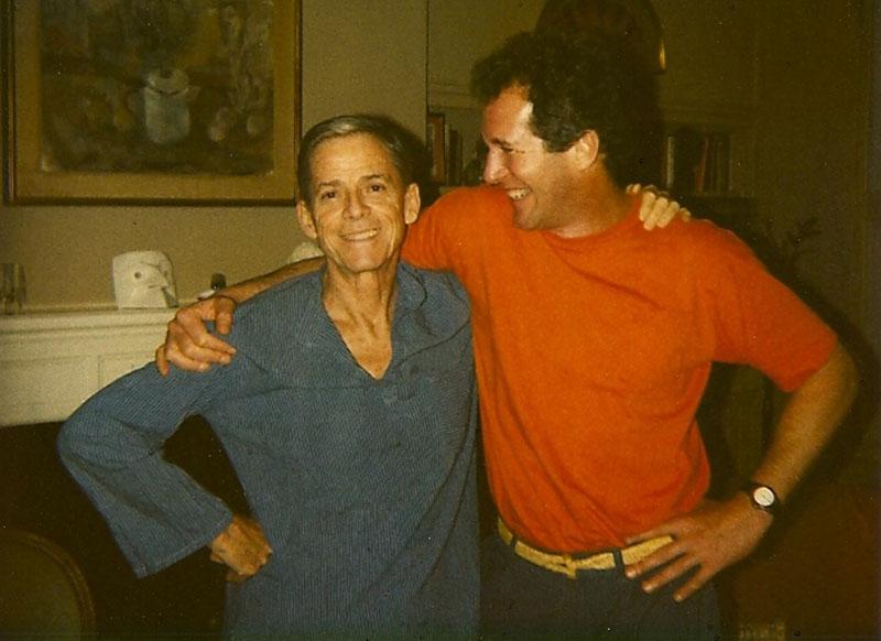 Merill (left) in his New York City apartment, 1992