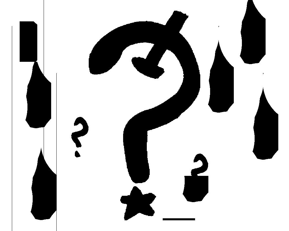 communist symbol as a question mark